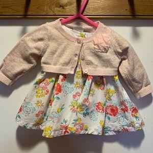Cherokee 0-3m dress with sweater
